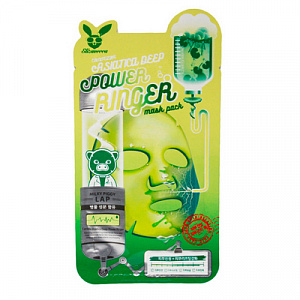 ELIZAVECCA Ткан. маска д/лица ЦЕНТЕЛЛА CENTELLA ASIATICA DEEP POWER Ringer mask pack, 1 шт